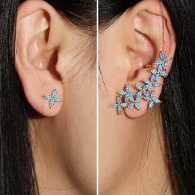 Pétalos Azules De La Mariposa Escaladores