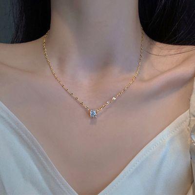 Collar Pequeño De Circonitas Con Cristales