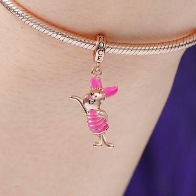 Pink Pig Pendant