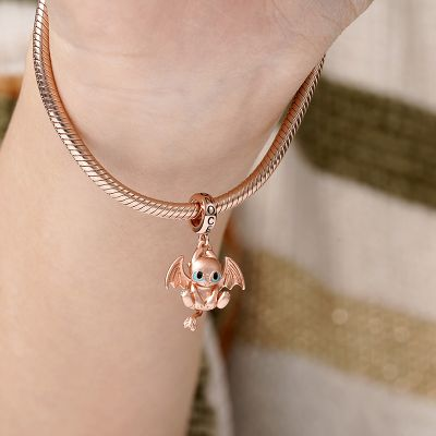 Rose Gold Dragon Pendant