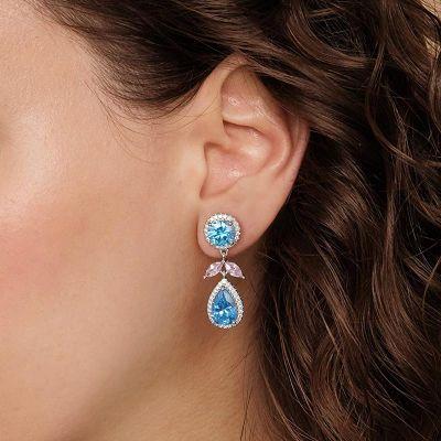 Pendientes De Diamantes De Talla Pera Azure