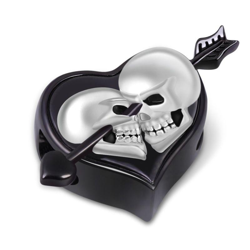 Corazón de huesos 925 plata pulsera con dijes Regalo Troll Esqueleto Gótico